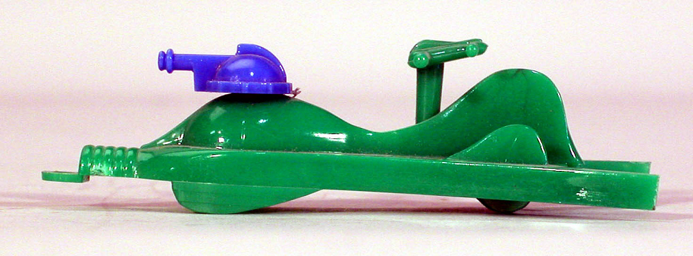 Toy, Captain Video, Supersonic Space Ship, Green and blue,Toy, Captain Video, Supersonic Space Ship, Green and blue