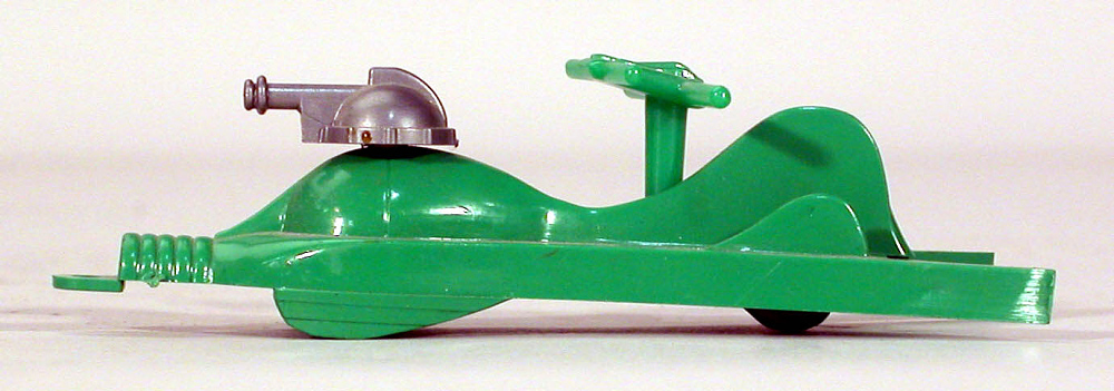 Toy, Captain Video, Supersonic Space Ship, Green and silver,Toy, Captain Video, Supersonic Space Ship, Green and silver