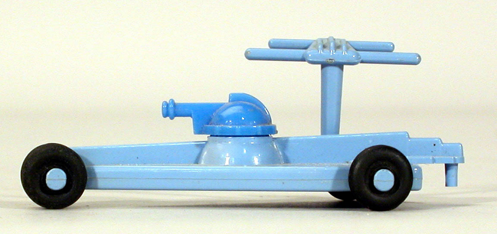 Toy, Captain Video, Supersonic Space Ship, Light Blue