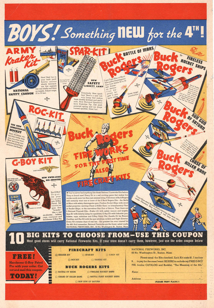 Advertisement, Fireworks, Buck Rogers
