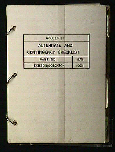 Checklist, Alternate and Contingency, Apollo 11