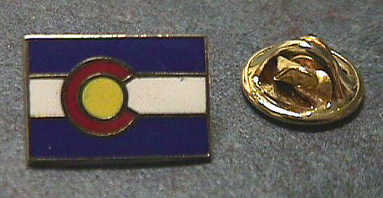 Pin, Lapel, Colorado Flag,Pin, Lapel, Colorado Flag
