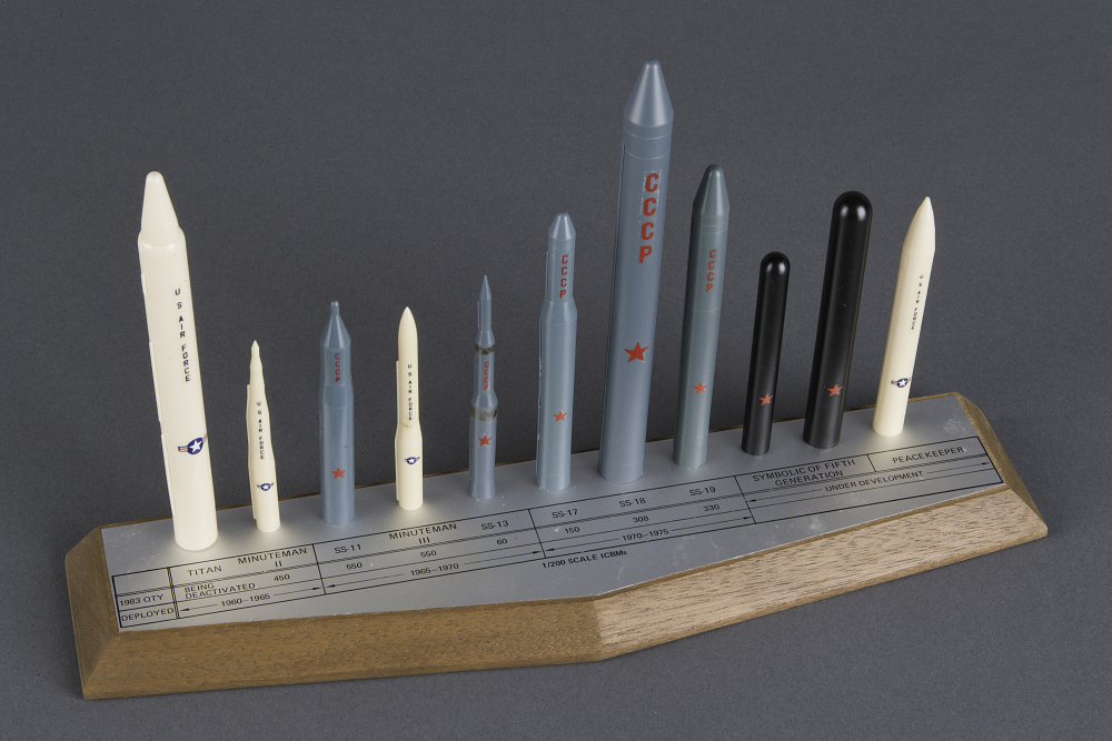 Model, Missile, US/USSR ICBMs,Model, Missile, US/USSR ICBMs