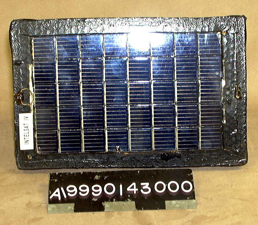 Solar Cell Test Panel, Intelsat IV,Solar Cell Test Panel, Intelsat IV