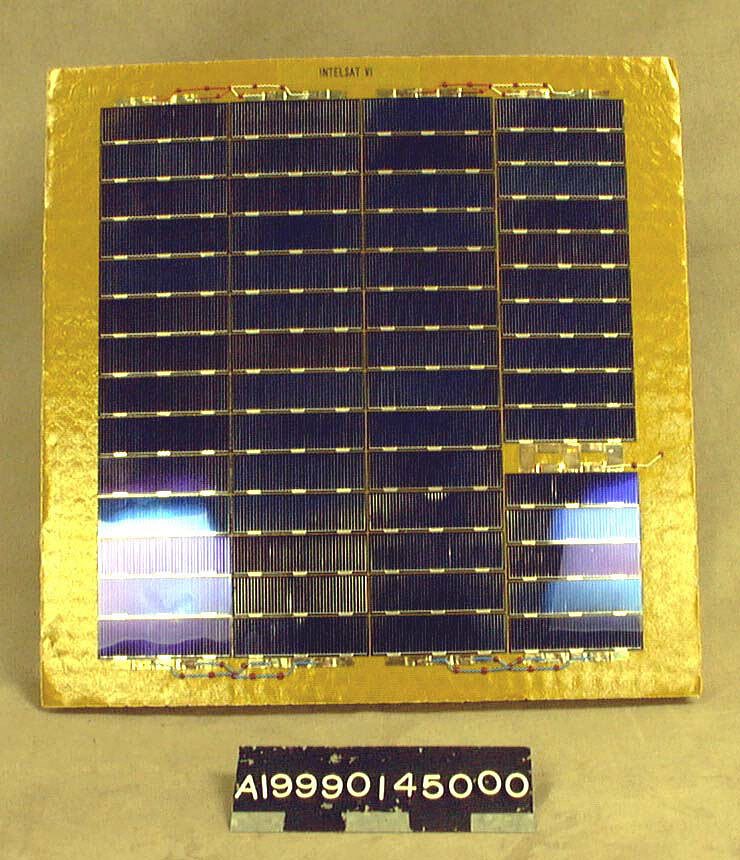 Solar Cell Test Panel, Intelsat VI,Solar Cell Test Panel, Intelsat VI