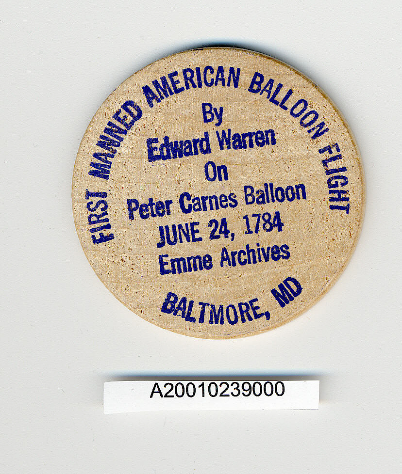 Token, First Balloon Flight in America