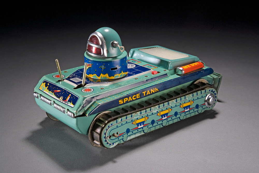 Tin Toy, Space Tank,Tin Toy, Space Tank