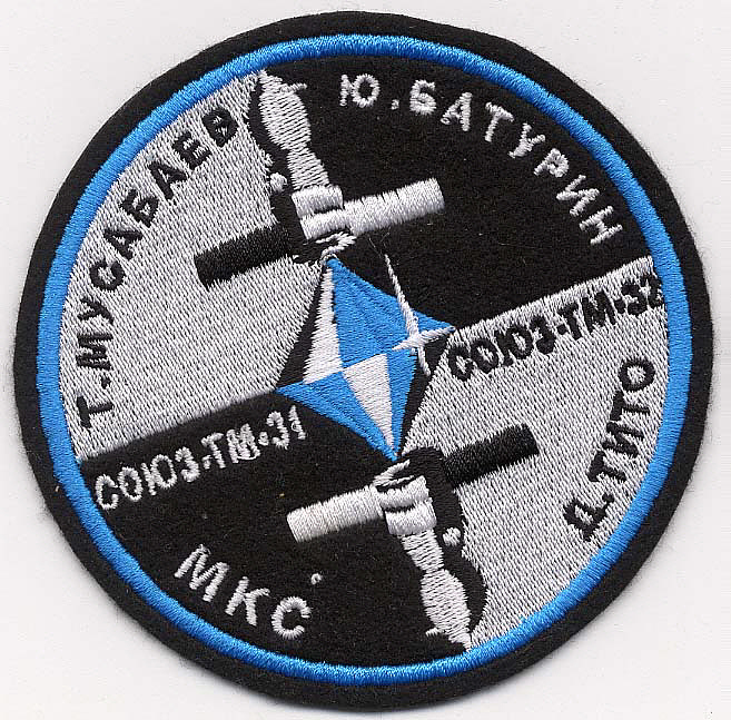 Patch, Mission, Soyuz TM-31 and TM-32,Patch, Mission, Soyuz TM-31 and TM-32