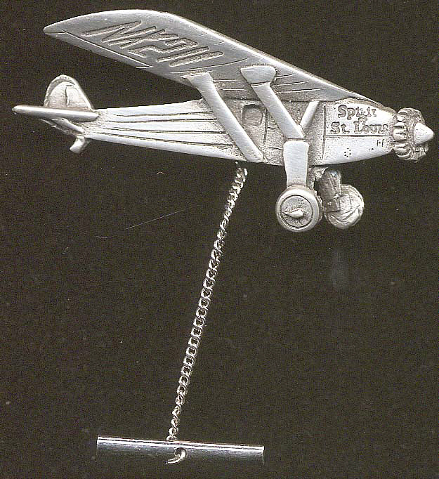 Tie Tack, Airplane Model, Lindbergh, King Collection,Tie Tack, Airplane Model, Lindbergh, King Collection