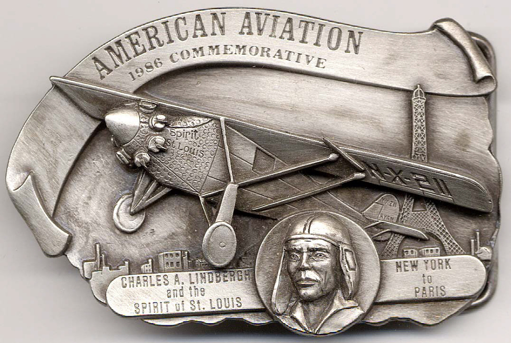 Belt Buckle, Lindbergh, King Collection