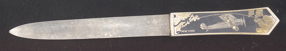 Letter Opener, Lindbergh, King Collection