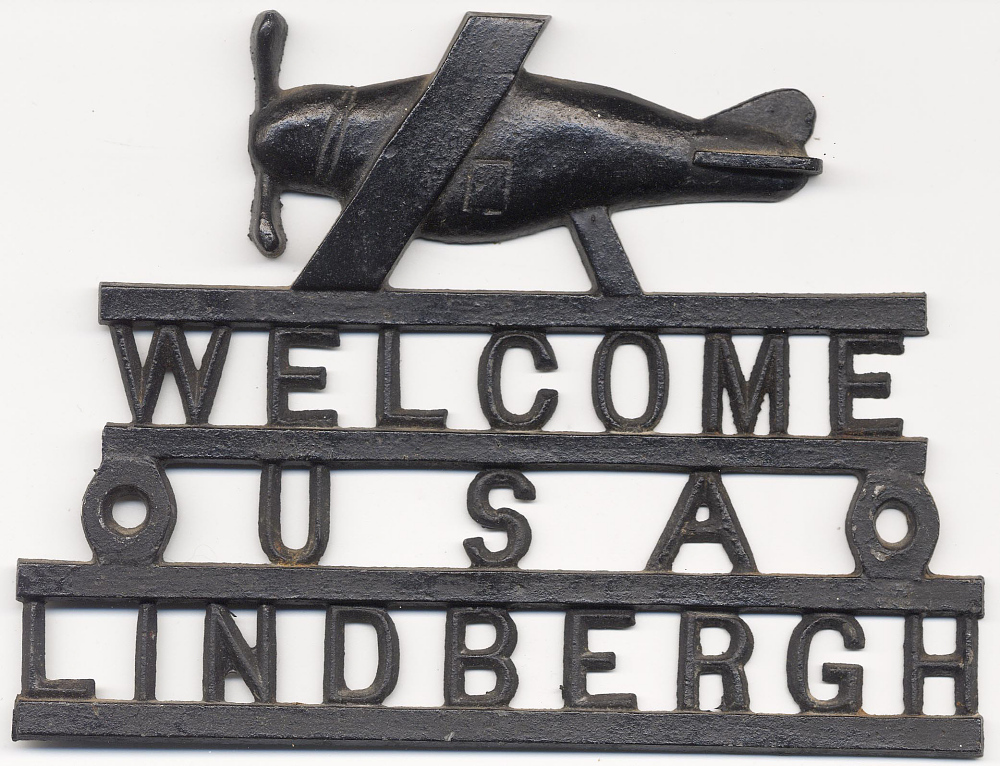 Sign, Lindbergh, King Collection,Sign, Lindbergh, King Collection
