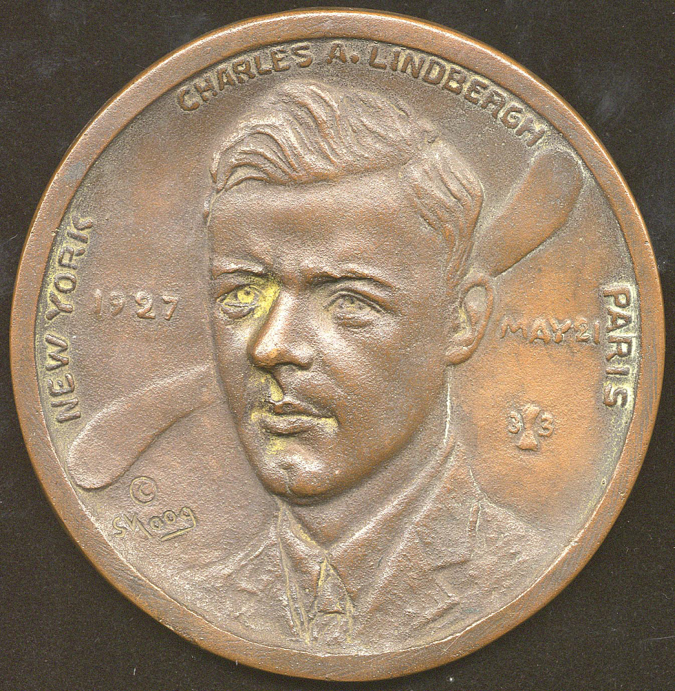 Medal, Commemorative, Lindbergh, King Collection,Medal, Commemorative, Lindbergh, King Collection