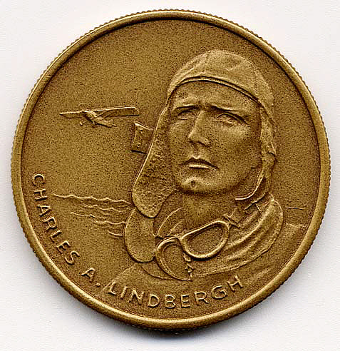 Medal, Commemorative, Lindbergh, King Collection