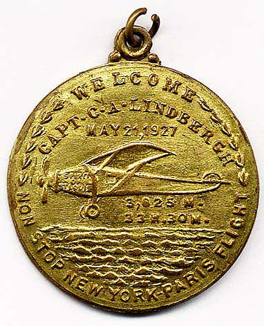 Token, Commemorative, Lindbergh, King Collection
