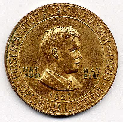 Token, Commemorative, Lindbergh, King Collection,Token, Commemorative, Lindbergh, King Collection