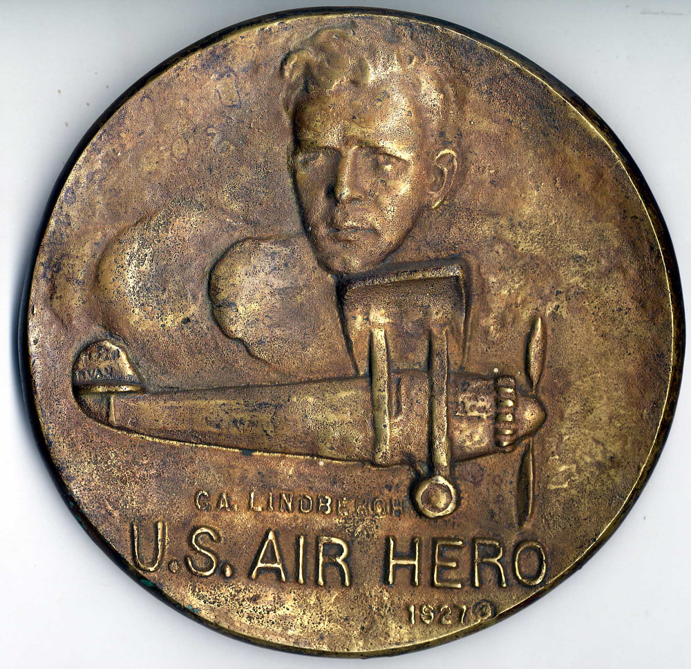 Plaque, Relief, Lindbergh, King Collection