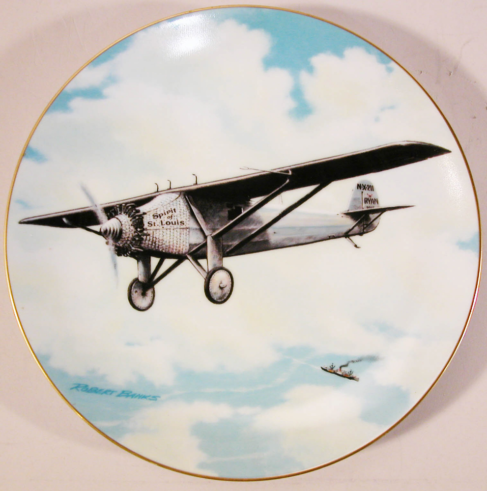 Plate, Lindbergh, King Collection,Plate, Lindbergh, King Collection