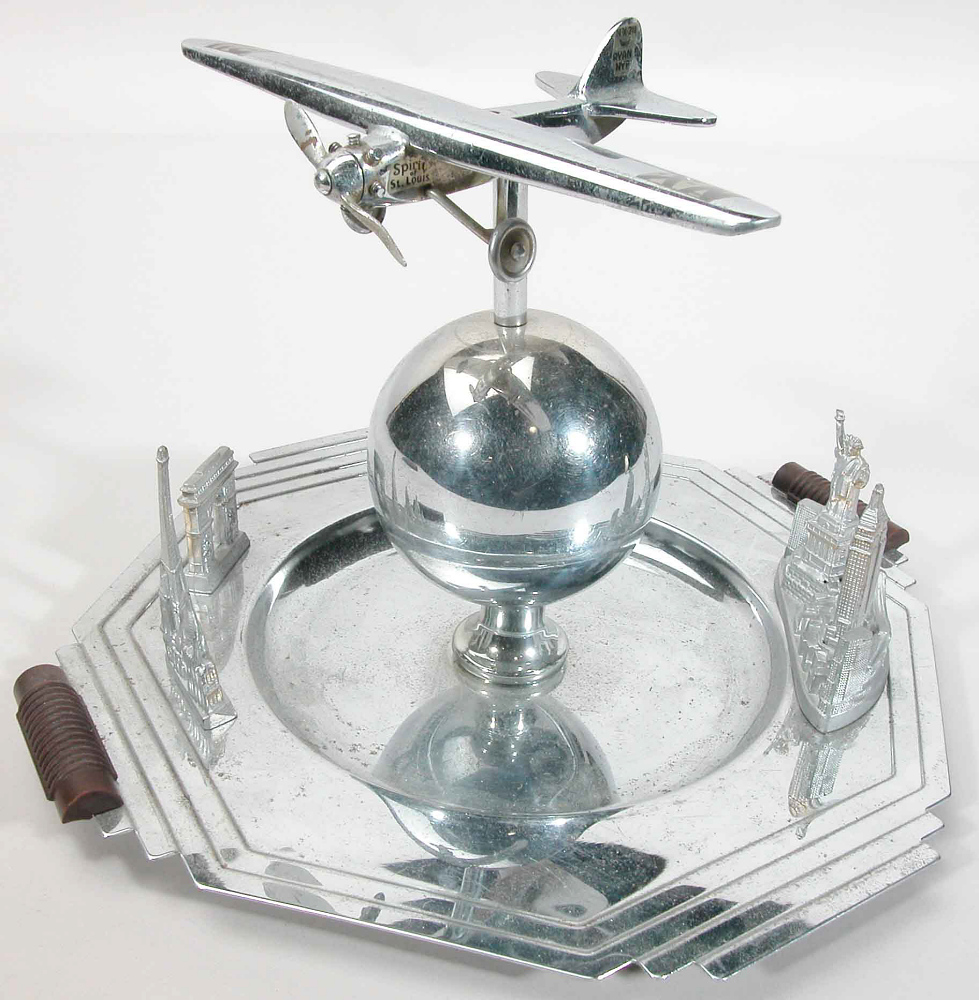 Serving Tray, Airplane Model, Lindbergh, King Collection,Serving Tray, Airplane Model, Lindbergh, King Collection