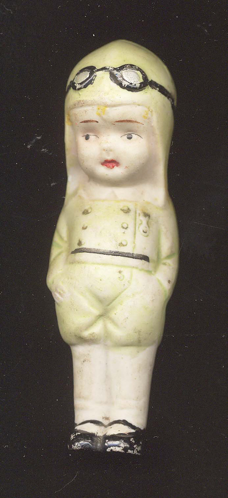 Figure, Porcelain Pilot, Lindbergh, King Collection,Figure, Porcelain Pilot, Lindbergh, King Collection