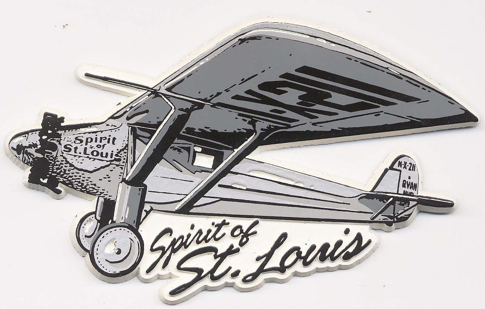 Magnet, Airplane Model, Lindbergh, King Collection,Magnet, Airplane Model, Lindbergh, King Collection