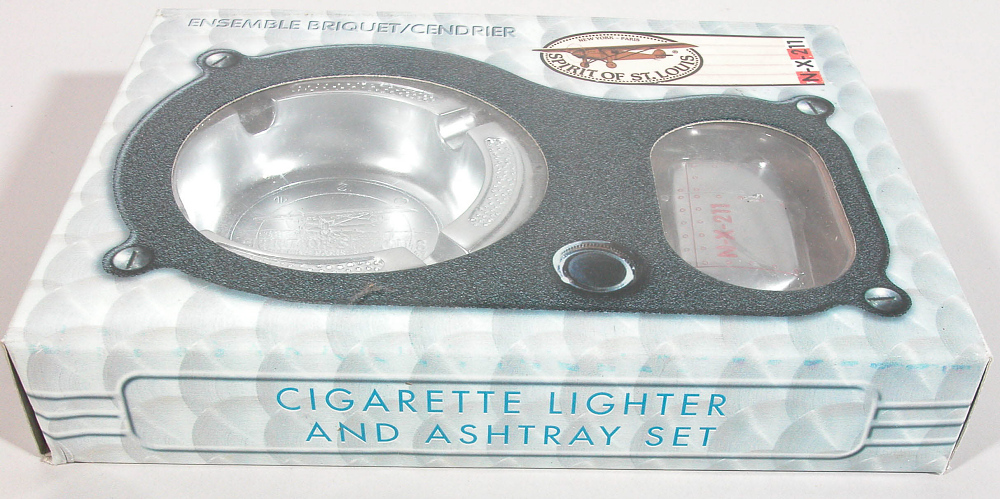 Ashtray and Lighter, Lindbergh, King Collection,Ashtray and Lighter, Lindbergh, King Collection