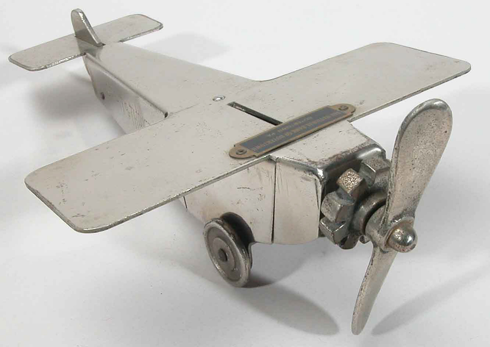 Coin Bank, Airplane Model, Lindbergh, King Collection,Coin Bank, Airplane Model, Lindbergh, King Collection