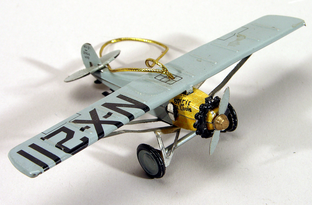 Ornament, Airplane Model, Lindbergh, King Collection,Ornament, Airplane Model, Lindbergh, King Collection