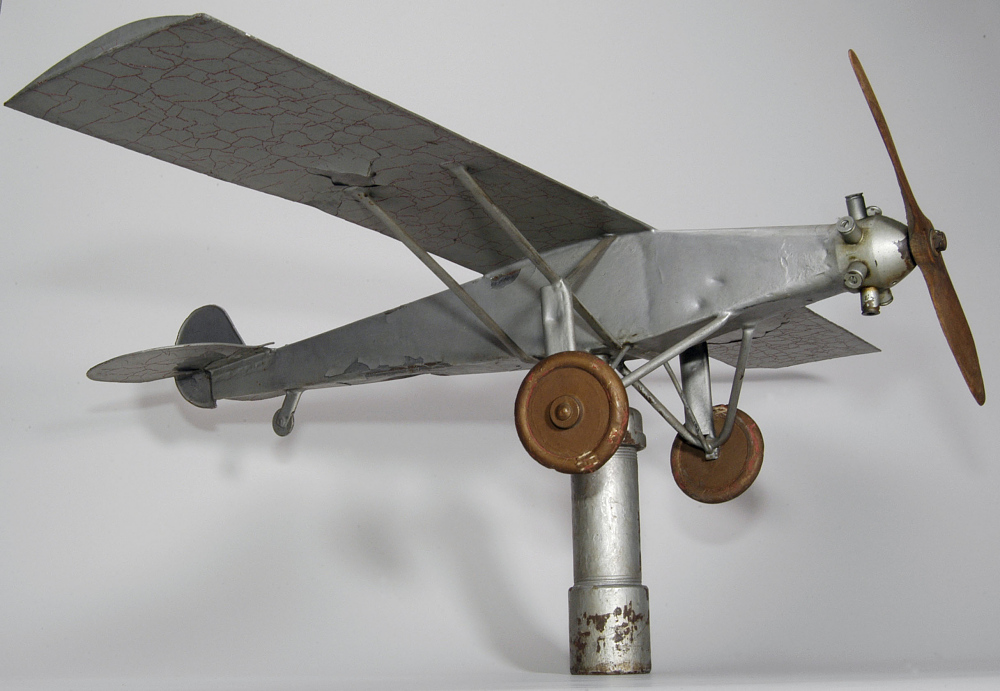 Ornament, Weathervane, Airplane Model, Lindbergh, King,Ornament, Weathervane, Airplane Model, Lindbergh, King