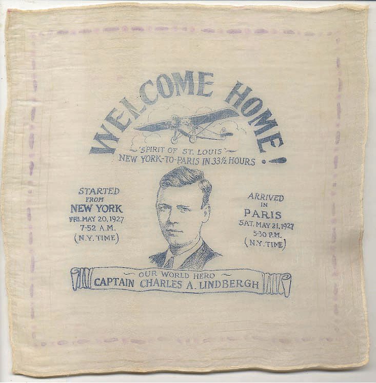 Handkerchief, Lindbergh, King Collection