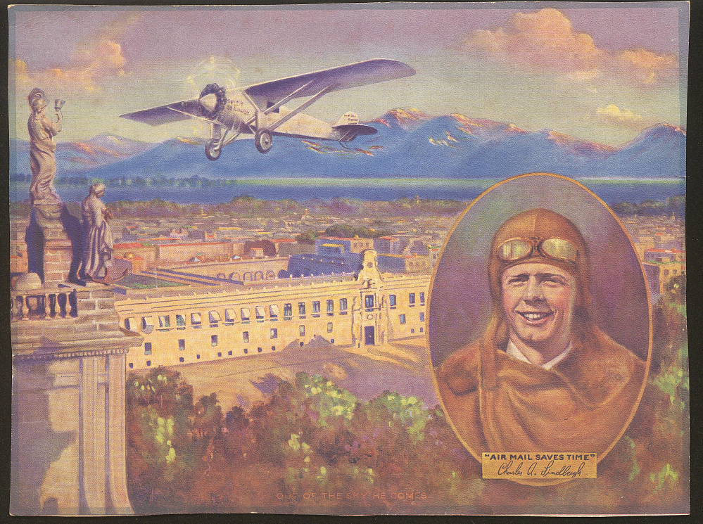 Poster, Lithograph, Lindbergh, King Collection,Poster, Lithograph, Lindbergh, King Collection