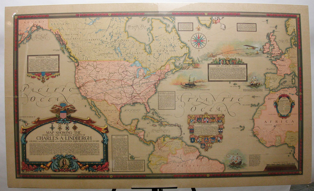 Map, Lindbergh, King Collection,Map, Lindbergh, King Collection