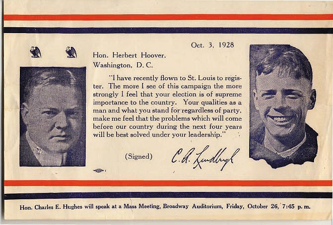 Flyer, Lindbergh, King Collection,Flyer, Lindbergh, King Collection
