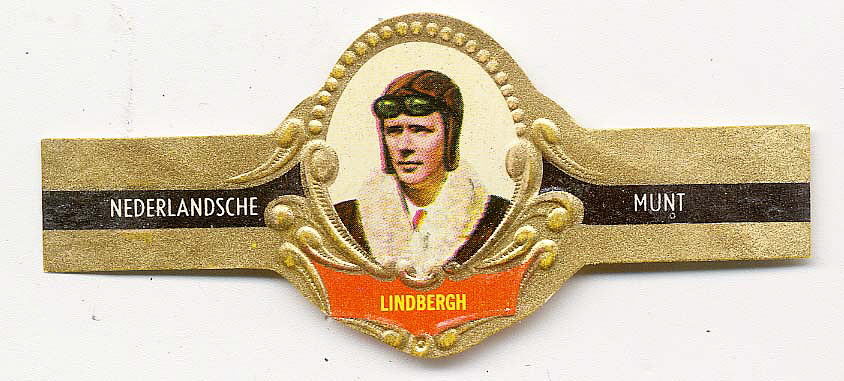 Cigar Band, Lindbergh, King Collection,Cigar Band, Lindbergh, King Collection