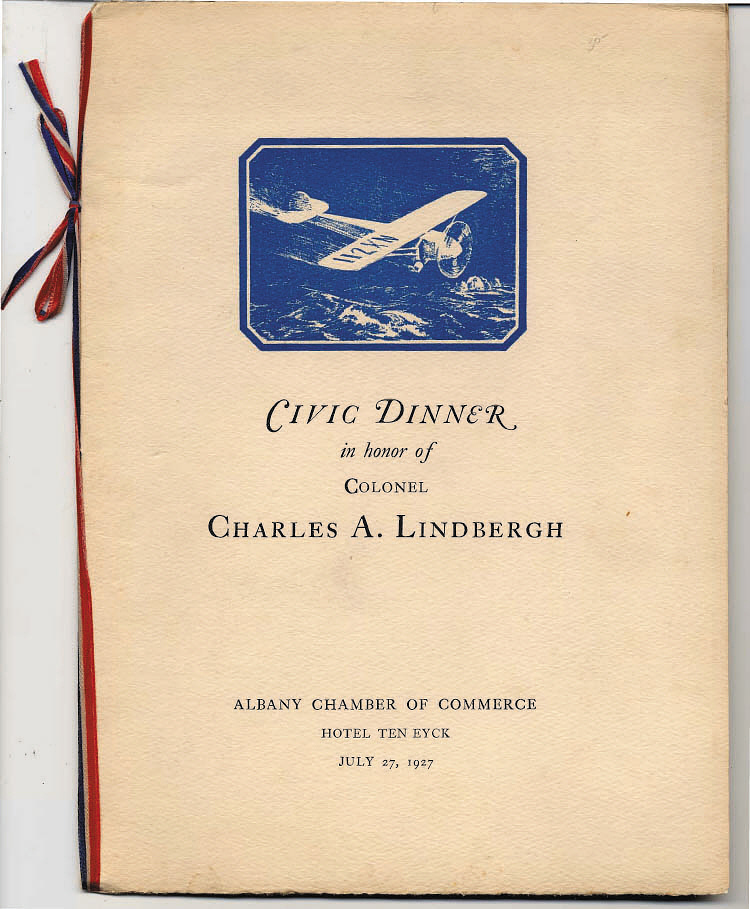 Reception, Program, Lindbergh, King Collection,Reception, Program, Lindbergh, King Collection