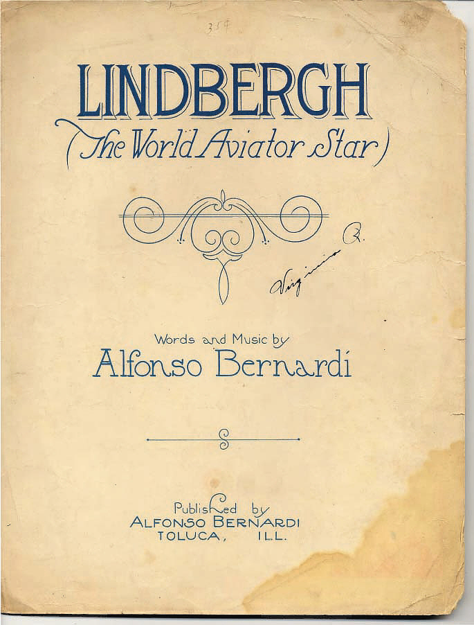 Sheet Music, Lindbergh, King Collection,Sheet Music, Lindbergh, King Collection