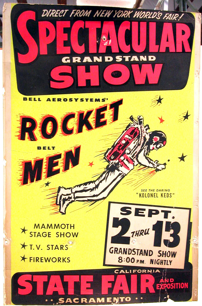 Poster, Rocket Belt Men at California State Fair