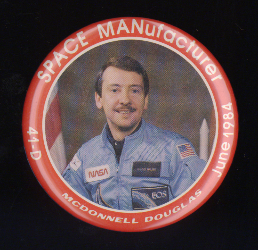 "Button, ""SPACE MANufacturer"", McDonnell Douglas,Button, ""SPACE MANufacturer"", McDonnell Douglas"