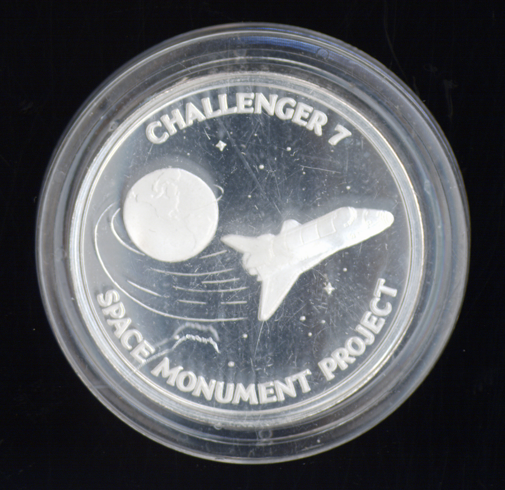 Medallion, Commemorative, Challenger 7 Space Monument Project,Medallion, Commemorative, Challenger 7 Space Monument Project