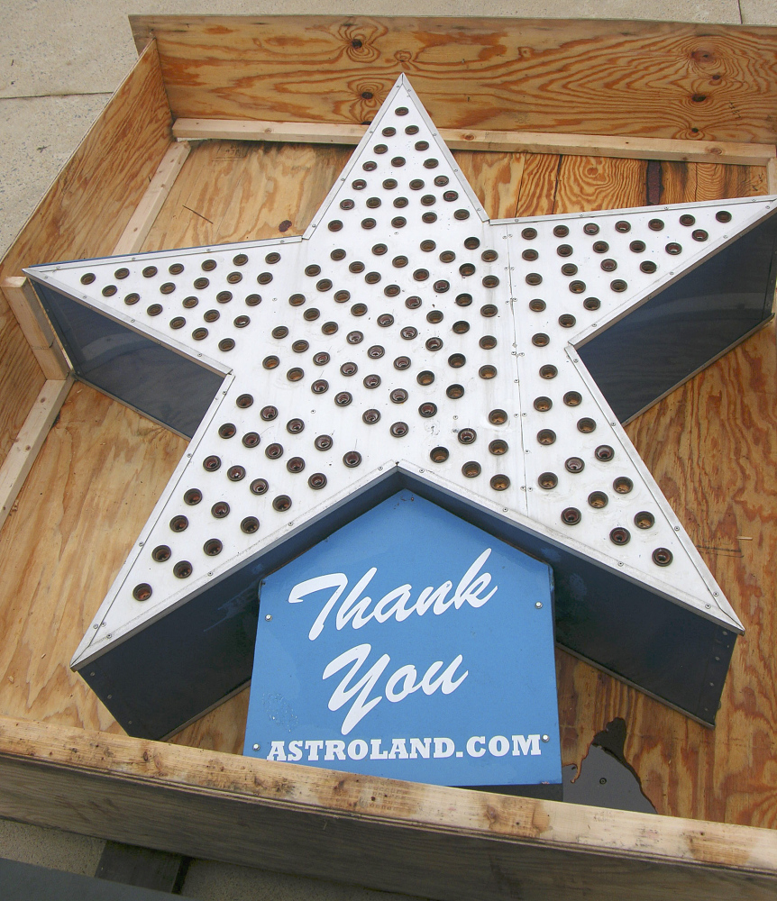 Lighted Sign, Star, Astroland,Lighted Sign, Star, Astroland