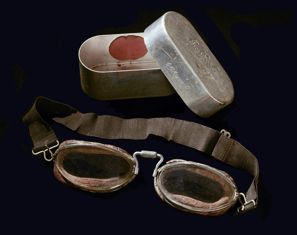 Goggles, Flying, United States Army Air Service, Lt. Lewis Webster,Goggles, Flying, United States Army Air Service, Lt. Lewis Webster