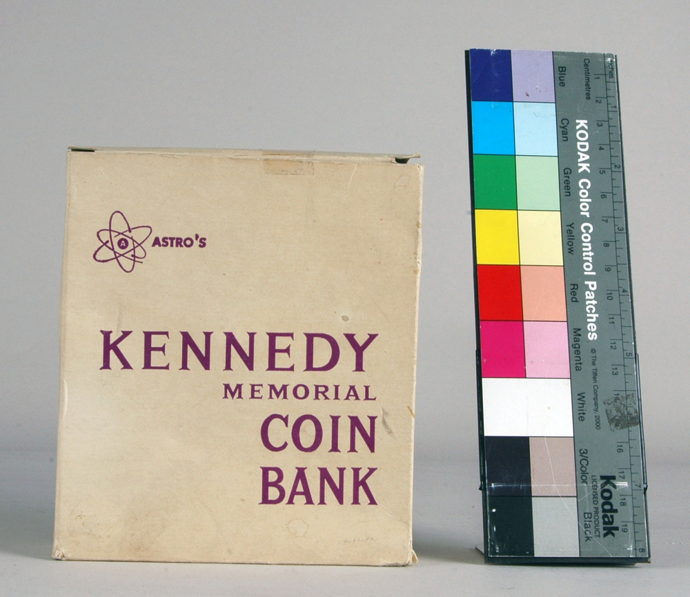 Box, Novelty Bank, Kennedy Memorial,Box, Novelty Bank, Kennedy Memorial