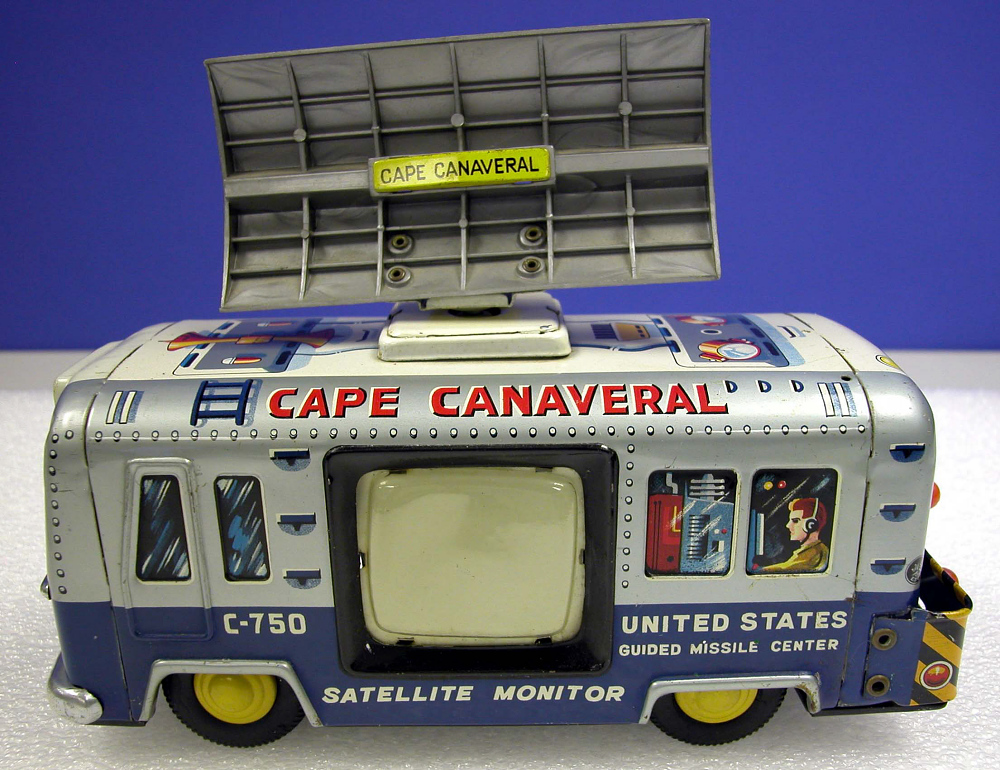 Toy, Bus, Mobile Satellite Tracking Station, Cape Canaveral,Toy, Bus, Mobile Satellite Tracking Station, Cape Canaveral