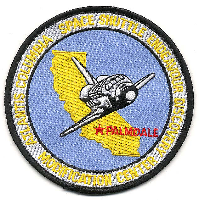 Patch, Center, Space Shuttle Modification Center, Palmdale CA,Patch, Center, Space Shuttle Modification Center, Palmdale CA