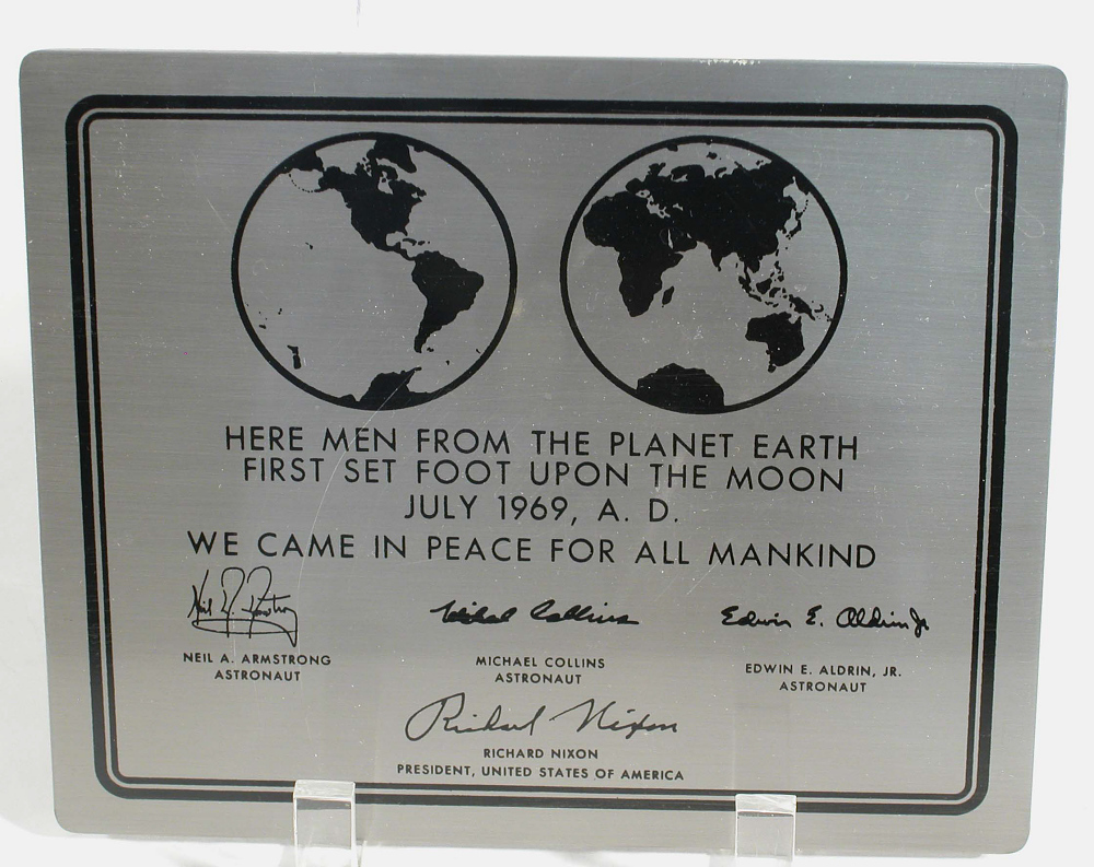 Plaque, Apollo 11, Replica,Plaque, Apollo 11, Replica