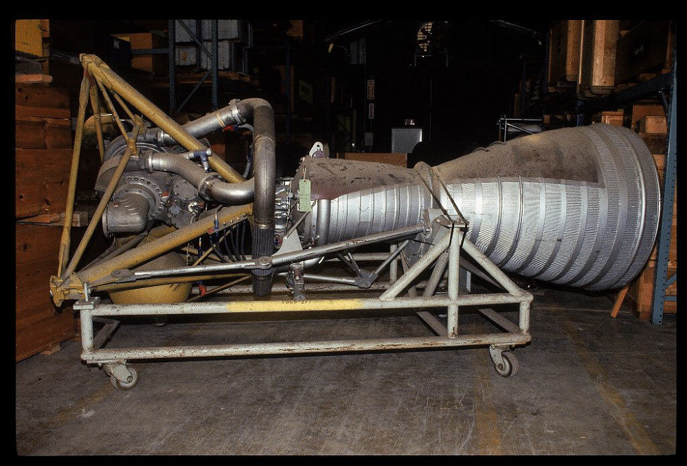Rocket Engine, Liquid Fuel, Cutaway, LR-79-NA-9 (Thor)