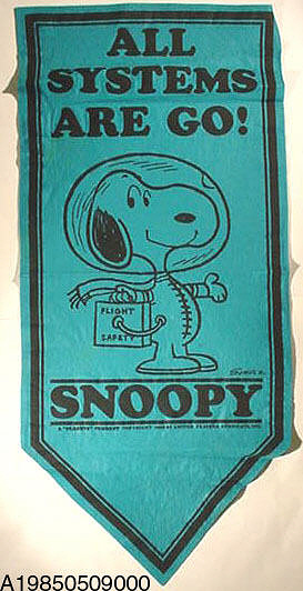 Banner, NASA Flight Safety, Snoopy, Blue,Banner, NASA Flight Safety, Snoopy, Blue