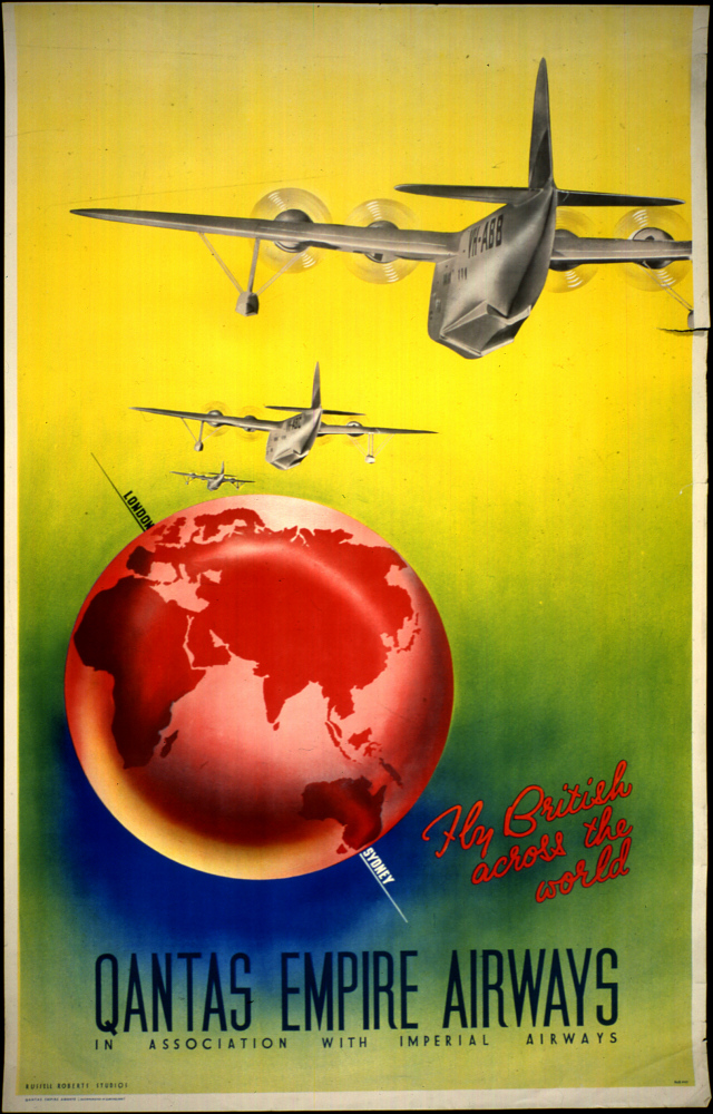 Quantas Empire Airways in Association With Imperial Airways Fly British Across the World