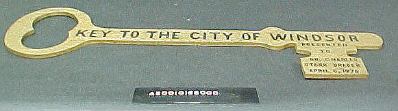 Key to the City, City of Windsor, 1970, Charles Draper