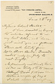 View Charles Lang Freer's letters to Frank Hecker during foreign travels, 1909 digital asset number 5